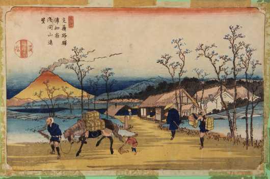 Keisai Eisen, 1790 -1848, Japaese block print