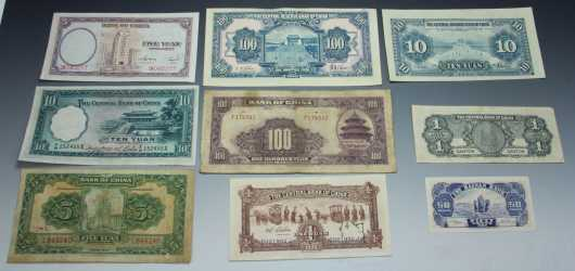 Old Chinese Paper Currency