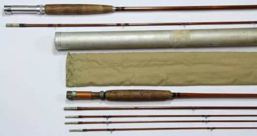 Two Bamboo Fly Casting Rods