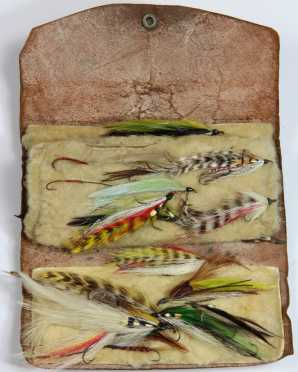 Leather Case with Wet Fly Collection
