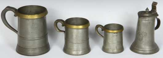 Lot of English Pewter