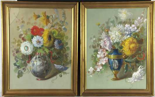 Pair of Italian Floral Still Life Painting