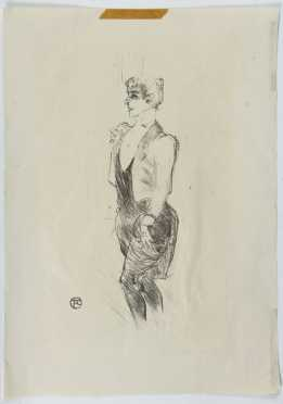 Toulouse Lautrec, print of a young woman girl