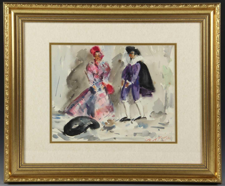 Masquerade Watercolor Painting