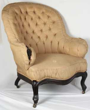 Victorian Upholstered Wing Chair