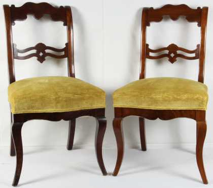 Pair of Mahogany Empire Side Chairs