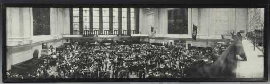 George Strock, panoramic photo of the NY Stock Exchange, circa 1940's