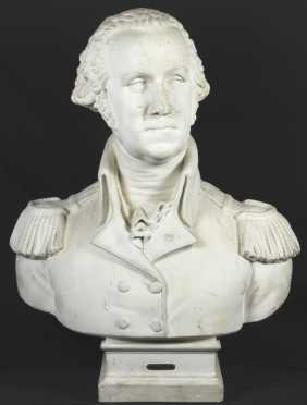 School Of Jean-Antoine Houdon, plaster casting depicting George Washington
