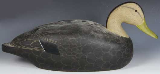 Modern Black Duck Decoy