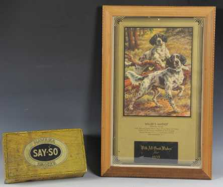 Edmond Osthaus Lithograph/Calendar Back and Cigar Box