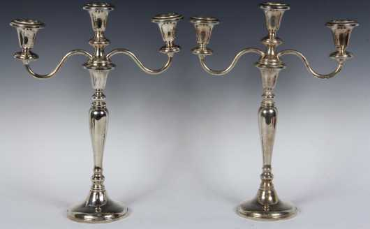 Pair of Revere Sterling Candelabras