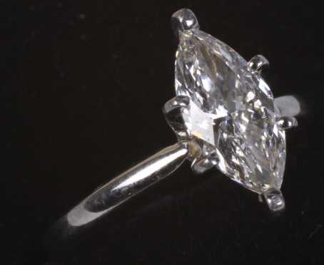 Marquise Diamond Ladies Ring