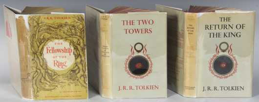 "J.R.R. Tolkien, ""The Lord of the Rings"". 3 volume first editions"