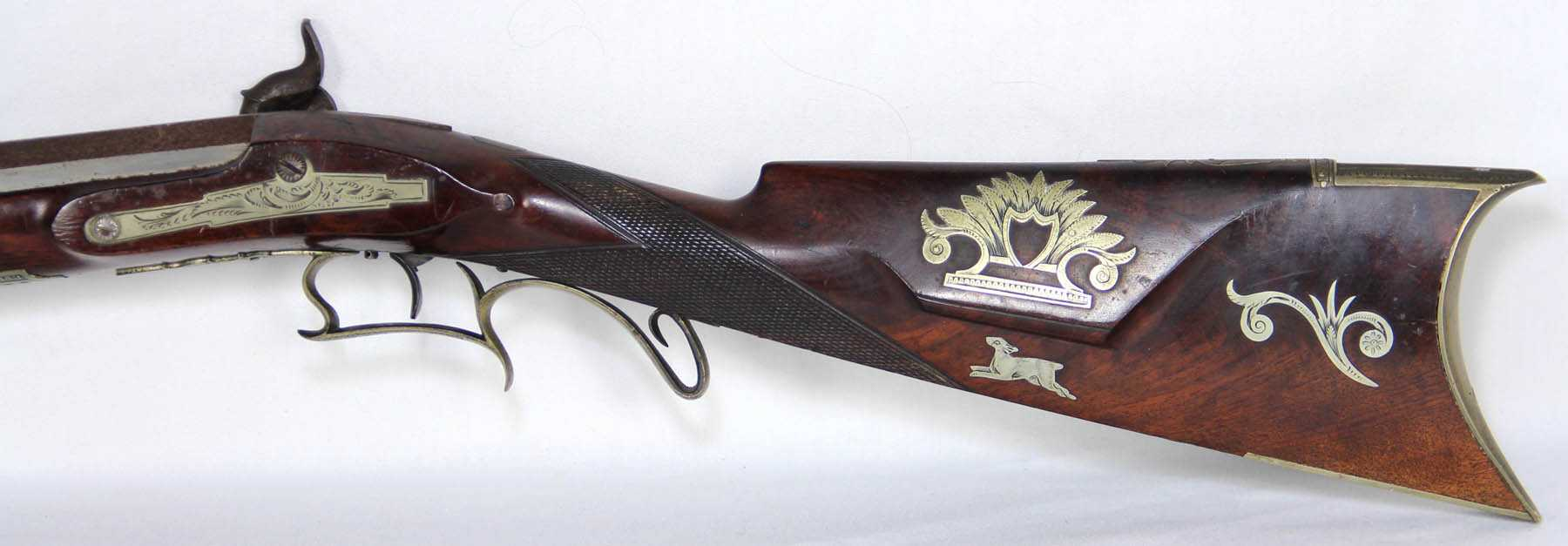 Ornately Decorated Half Stock Percussion Cap Target Rifle