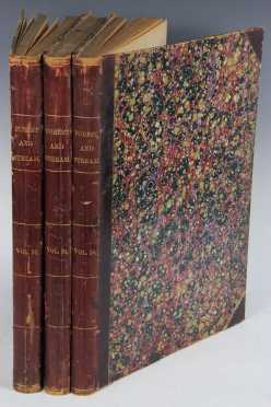 Forest and Stream magazine volumes 23-25 (August 1884-January 1886), bound