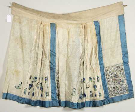 Three Chinese Needlework Skirts