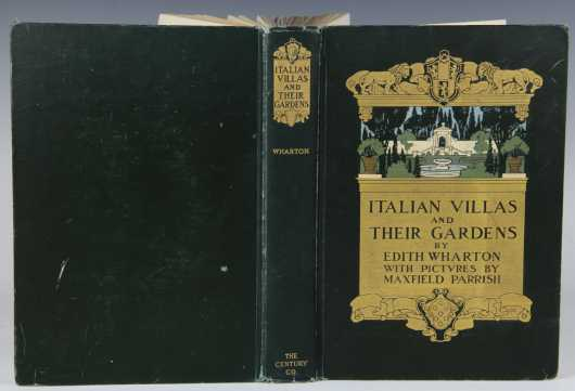 Italian Vistas by Edith Wharton, illustrated by Maxfield Parrish,  first edition