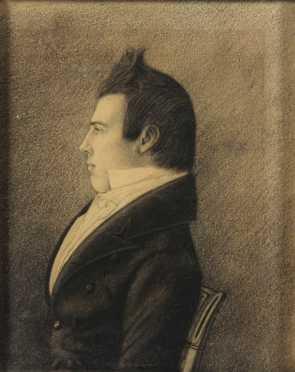 "School of ""Henkel - Bambrough -Audubon,"" Miniature Virginia Portrait of Robert Green"