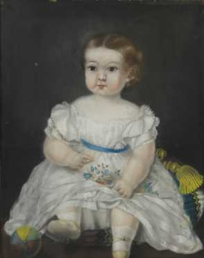 Primitive Portrait of a Young Girl