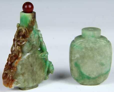 Two Jadeite Chinese Snuffs