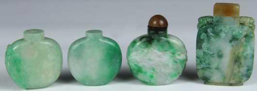 Four Jadeite Chinese Snuffs