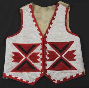 Native American Child's Bead Work Vest