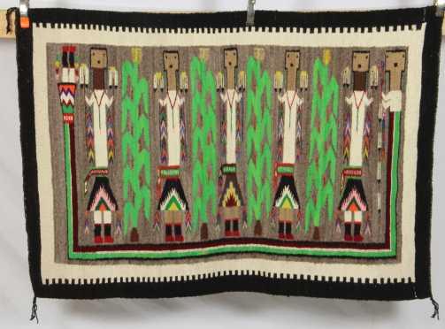 """Navajo """"Yei"""" Rug or Healing Blanket"""