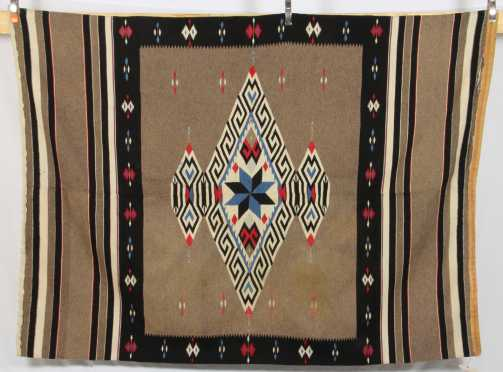 Mexican Blanket with geometric patterns