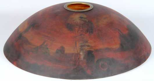 Reverse Painted Glass Shade