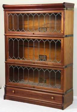 The Globe-Wernicke Co. Mahogany Stacking Bookcases