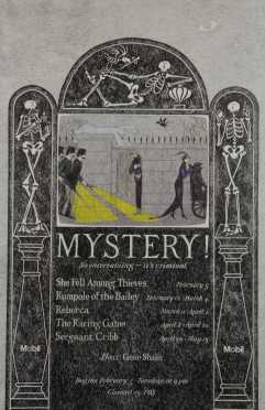 """Edward Gorey,""""Mystery!"""" Theatre Poster by Edward Gorey for the PBS television series"""