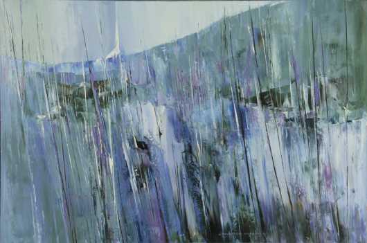 "John Thurston Marshall, oil on canvas  ""Spring in Princeton"""