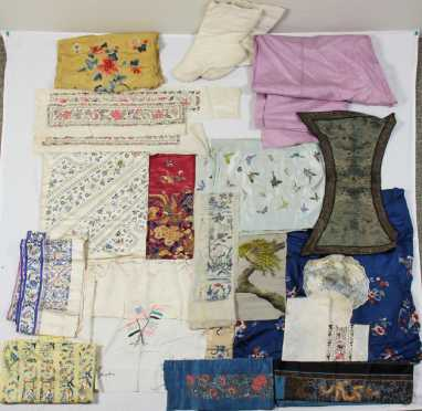 Lot of Chinese Embroidery on Silk