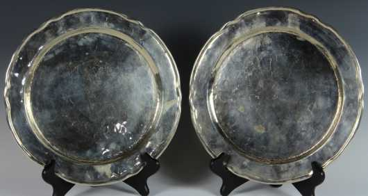 Two Silver Plates