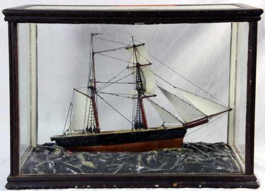 Cased Sailing Ship Model