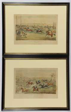 Aylesbury Grand Steeple Chase, Pair of Horse Racing Prints