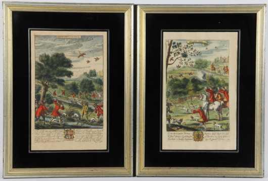 Pair of Hunting Prints
