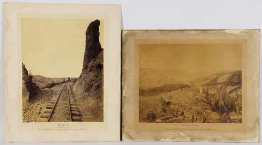 William Henry Jackson,  2 photographs of The Denver And Rio Grande Railway