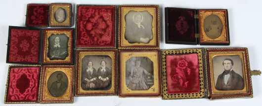 Lot of Eight Daguerreotypes