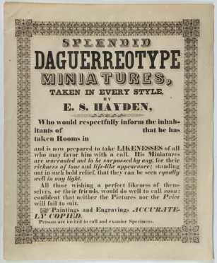 1800's Paper Advertising Broadside