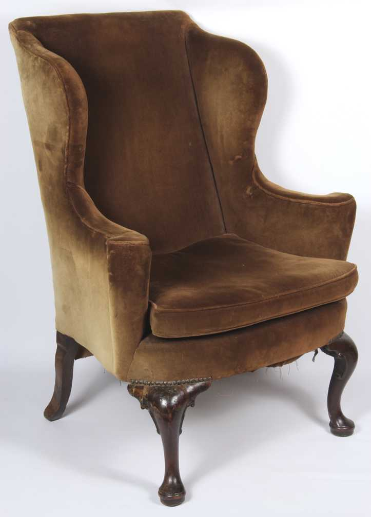 English queen anne wing chair for Queen anne furniture
