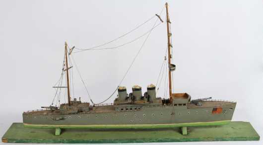 Steam and Sail Warship Boat Model