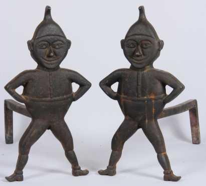 Cast Iron Elf Andirons
