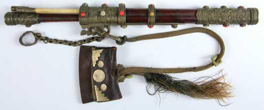 Mongolian Knife and Chop Stick Travelling Set