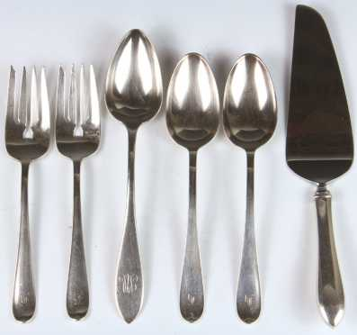 Six Pieces of Miscellaneous Sterling Serving Pieces