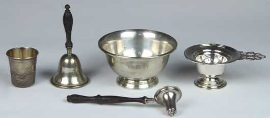 Five Miscellaneous Sterling Silver Pieces