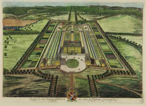 """Lithograph of """"Ragley in the County of Warwick the Seat of Popham Conway Esq."""""""