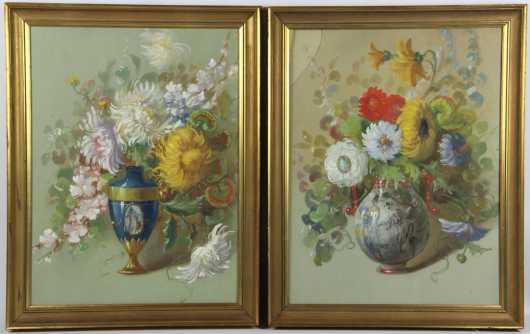 Pair of Continental Watercolors