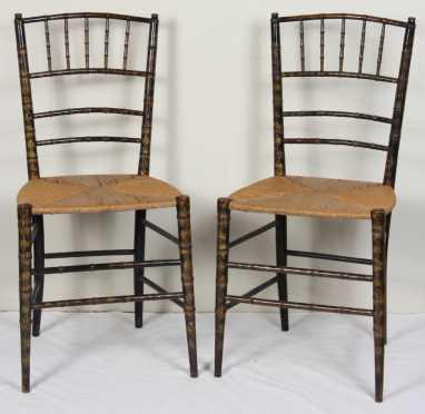 Pair of Sheraton Fancy Chairs