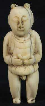 Chinese Carved Bone Figures